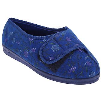 Comfylux Womens/Ladies Davina Floral Superwide Slippers