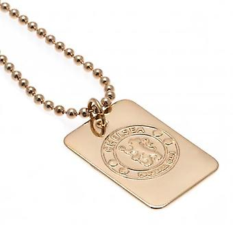 Chelsea Gold Plated Dog Tag & Chain