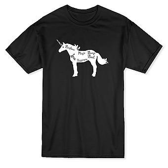 Einhorn-Element Männer Schwarzes T-shirt