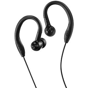 JVC Headphone In Ear Headphones with Over Ear Clip - Black (HAEC10B)