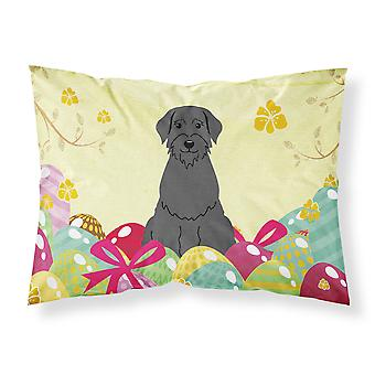 Easter Eggs Giant Schnauzer Fabric Standard Pillowcase