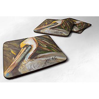 Carolines Treasures  JMK1217FC Set of 4 Pelican lookin East Foam Coasters