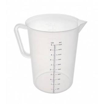 Polypropylene Measuring Jug 5 Litres Clear
