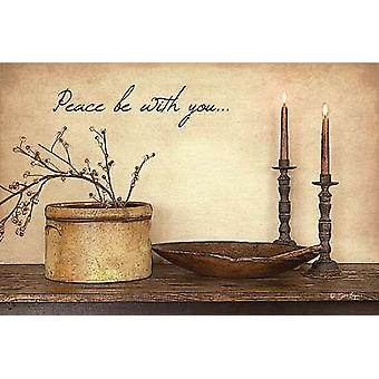 Peace Be With You Poster Print by Susie Boyer (18 x 12)