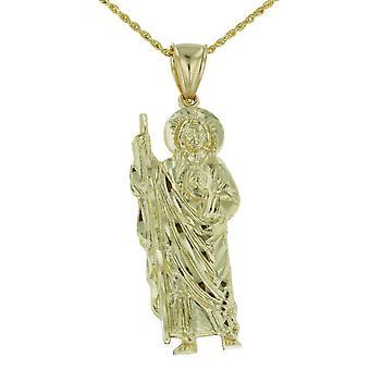 10 k Gelb Gold Saint Jude Thaddeus Charm Anhänger Halskette