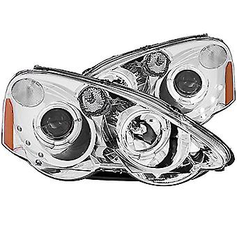 AnzoUSA 121360 Chrome/Clear/Amber Halogen Projector Headlight for Acura RSX