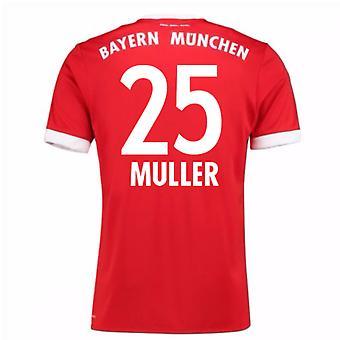 Рубашка с коротким рукавом Бавария Мюнхен дома 2017-18 (Мюллер 25)