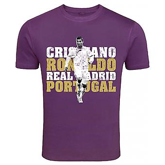Cristiano Ronaldo Real Madrid T-Shirt (Purple)
