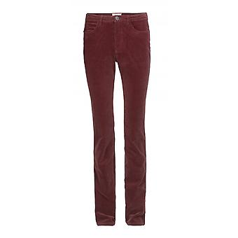 H.I.S women's corduroy pants Madison dark berry