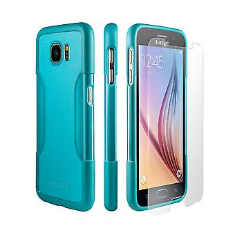 SaharaCase Galaxy S6 Oasis Teal Case, Classic Protective Kit Bundle with ZeroDamage Tempered Glass