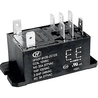 Plug-in relay 240 Vac 30 A 2 change-overs Hongfa H
