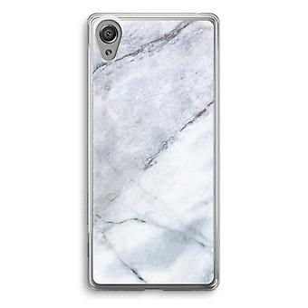 Sony Xperia XA1 Transparent Case - Marble white