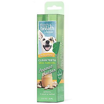 Tropiclean frischen Atem saubere Zähne Gel für Hunde (Erdnussbutter)