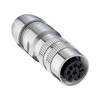 DIN connector Connector, straight Number of pins: 8 Silver Lumberg 032200 08 08-1 1 pc(s)