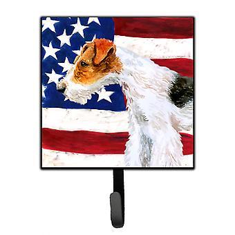 Carolines Treasures  BB9650SH4 Fox Terrier Patriotic Leash or Key Holder