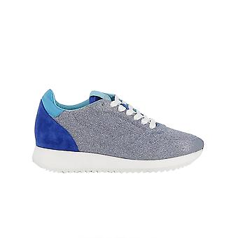 Ladies D1GC184927 grey glitter sneakers Mizuno