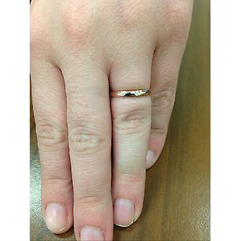 1 / 30ct belofte Diamond Solitaire Bezel Ring 14K Rose Gold