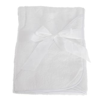 Snuggle Baby Plain White Hooded Towel For Someone Special