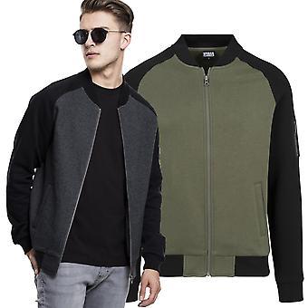 Urban Classics - 2 tone Raglan sweat bomber jacket
