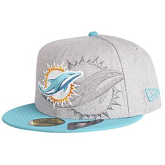 New era 59Fifty Cap - SCREENING NFL Miami Dolphins grey