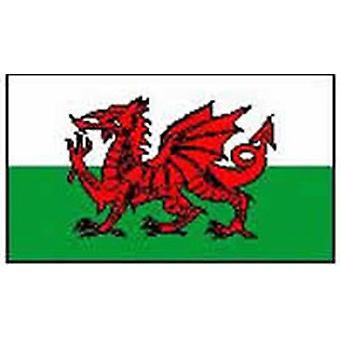 Wales/Walisisk Flag 5 ft x 3 ft (100% Polyester) med øjer til ophæng