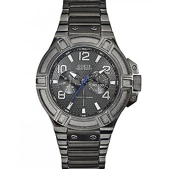 Guess men's wristwatch watch stainless steel analog W0218G1
