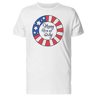 Happy 4Th Of July, Patriotism Tee Men's -Image by Shutterstock