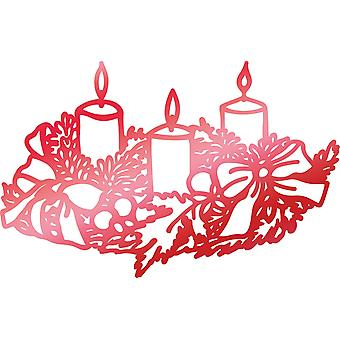 Couture Creations Let Every Day Be Christmas Hotfoil Stamp-Weathered Candles 2.1
