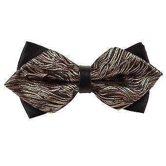 Gold Tiger Stripes Diamond Tipp Fliege