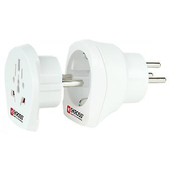 Skross World Travel Adapter Combo-to-Israel Grounded