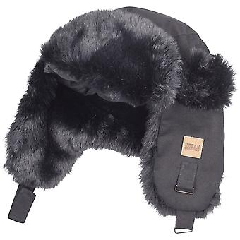 Urban classics - TRAPPER dog ear black winter Hat