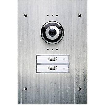 m-e modern-electronics VDV 920 Video door intercom Corded Outdoor panel Semi-detached Stainless steel
