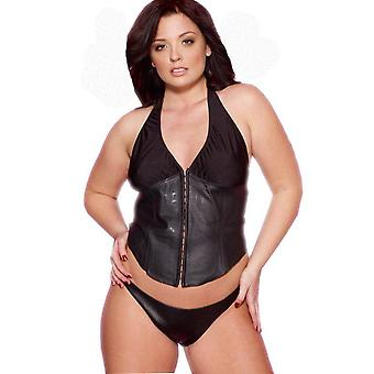 Allure Lingerie  AL-5-126X Leather & Lycra Bustier