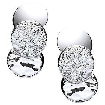Cavendish French Triple Round Earrings - Silver