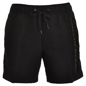 Calvin Klein Black Embossed Swim Shorts, Black, X Large