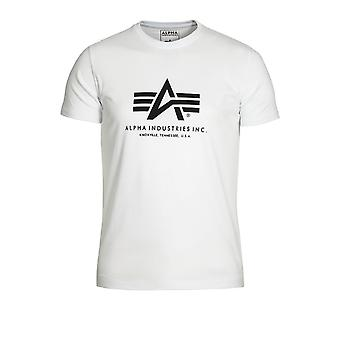 ALPHA INDUSTRIES Basic White Cotton T-Shirt