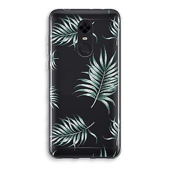Xiaomi Redmi 5 Transparent Case (Soft) - Simple leaves