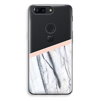 OnePlus 5T Transparent Case (Soft) - A touch of peach