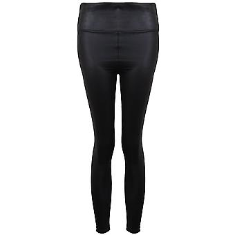 Ladies High Waisted Faux PVC Wet Look Disco American Style Leggings Trousers