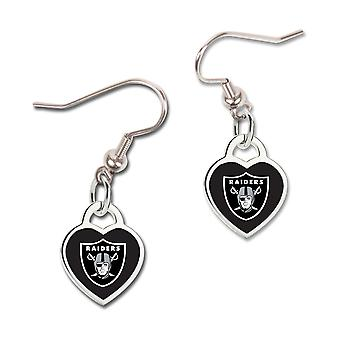 Wincraft ladies 3D heart earrings - NFL Oakland Raiders