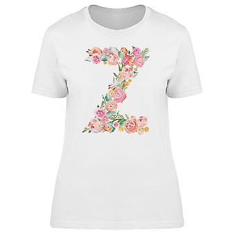 The Letter Z With Flowers Tee Women's -Image by Shutterstock