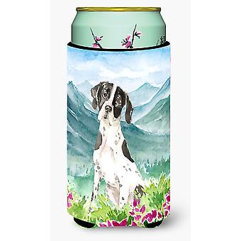 Mountain Flowers English Pointer Tall Boy Beverage Insulator Hugger