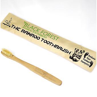 4 x Premium natürlichen Bambus Zahnbürsten | Weich/Mittel Borsten für empfindliches Zahnfleisch