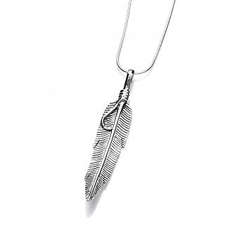 Cavendish francese d'argento Navajo piuma pendente senza catena