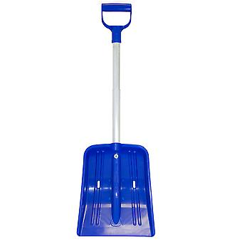 Charles Bentley Blue Snow Shovel with Extendable Handle