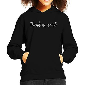 Thank U Next Kid's Hooded Sweatshirt