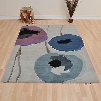 Sanderson Poppies tapijten 45705 Indigo/paars