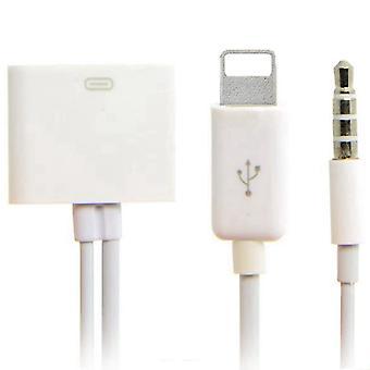 2 in 1-30-Pin-Buchse auf 8-Pin + 3,5 mm Audio-Kabel