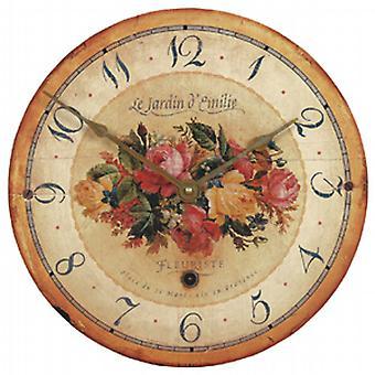 Roger Lascelles 'Bouquet' Emilie Rose Wanduhr - 34cm