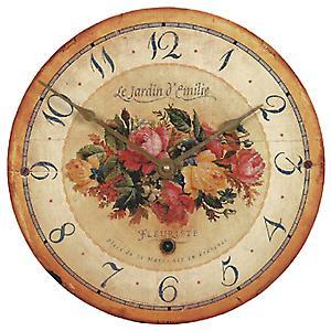 Roger Lascelles 'Bouquet' Emilie Rose Wall Clock - 34cm